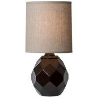 Thumbprints Espresso 1 Light Table Lamp in Gloss Bronze 1206-ASL-2140