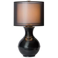 Thumprints 1209-ASL-2141 Jupiter 25 inch 150 watt Gunmetal Gloss Table Lamp Portable Light