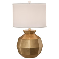 Thumprints Gem 1 Light Table Lamp in Gold with Shallow Drum Silk Hardback Shade 1213-ASL-2134