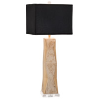 Geo 33 inch 150 watt Gold Lacquer w/White Overglaze Table Lamp Portable Light