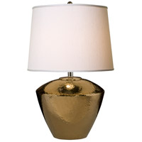 Thumprints Electra 1 Light Table Lamp in Bronze with Off-White Supreme Satin Drum Hardback Shade 1231-ASL-2124