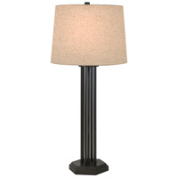 Thumprints Woodland 1 Light Table Lamp in Mahogany Bronze with Natural Linen Hardback Shade 1244-ASL-2166