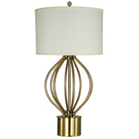 Thumprints 1247-ASL-2172 Dewdrop 32 inch 150 watt Brushed Brass Table Lamp Portable Light