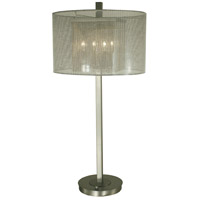 Noelle 32 inch 60 watt Brushed Nickel Table Lamp Portable Light