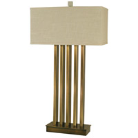 Pantheon 32 inch 150 watt Antique Brass Table Lamp Portable Light