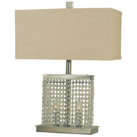 Thumprints Angelique 1 Light Table Lamp in Polished Nickel 1259-ASL-2095