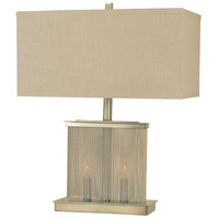 Gymnopedie 24 inch 100 watt Brushed Nickel Table Lamp Portable Light