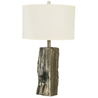 Thumprints 1262-ASL-2101 Driftwood 27 inch 150 watt Polished Nickel Table Lamp Portable Light