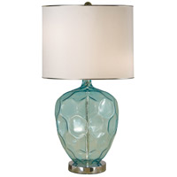 Abyss 24 inch 150 watt Translucent Turquoise,Polished Nickel Table Lamp Portable Light