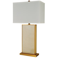 Grecian 26 inch 150 watt Ivory,Satin Brass Table Lamp Portable Light