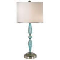Juliet 29 inch 150 watt Translucent Turquoise,Polished Nickel Table Lamp Portable Light
