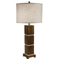 Thumprints Bali 1 Light Table Lamp in Acacia Wood 1105-ASL-2072