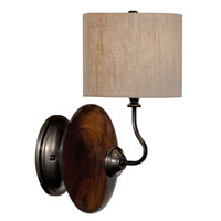 Thumprints Burl 1 Light Sconce in High Gloss Burlwood 1111-ASL-2078
