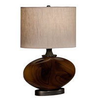Thumprints Burl 1 Light Table Lamp in Burlwood 1112-C11-2079