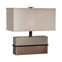 Thumprints Capricorn 1 Light Table Lamp in Light & Dark Bronze 1128-ASL-2095