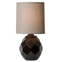 Thumprints Espresso 1 Light Table Lamp in Ebony Bronze 1206-ASL-2140