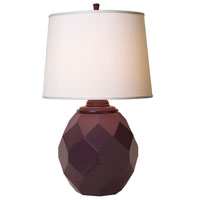 Thumprints Jewel 1 Light Table Lamp in High Gloss Eggplant 1168-ASL-2124