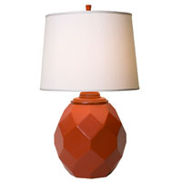 Thumprints Jewel 1 Light Table Lamp in High Gloss Poppy (Orange) 1167-ASL-2124