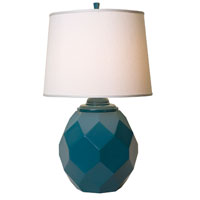 Thumprints Jewel 1 Light Table Lamp in High Gloss Teal. 1170-ASL-2124