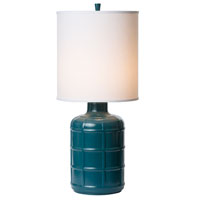 Thumprints Orleans 1 Light Table Lamp in High Gloss Teal. 1172-ASL-2125