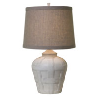 Thumprints Seagrove 1 Light Table Lamp in Distressed White Finish 1175-ASL-2129