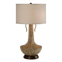 Thumprints Sedona 2 Light Table Lamp in Natural Distressed Brown 1121-C10-2088