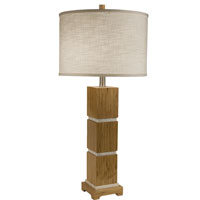 Thumprints Tahiti 1 Light Table Lamp in Bamboo Wood 1106-ASL-2072