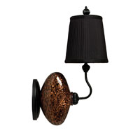 Thumprints ViVi 1 Light Sconce in Gold & Black 1026-C05-WS01