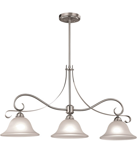Brighton 3 Light 36 Inch Brushed Nickel Island Ceiling