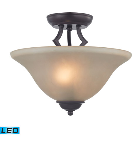 Thomas Lighting 1402sf 10 Led Kingston 13 Inch Oil Rubbed Bronze Semi Flush Mount Ceiling Light