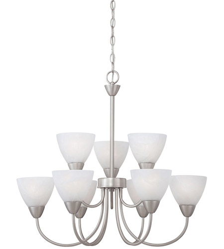 Thomas Lighting Matte Nickel Metal Chandeliers