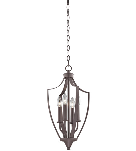 Light Oiled Bronze Foyer Pendants