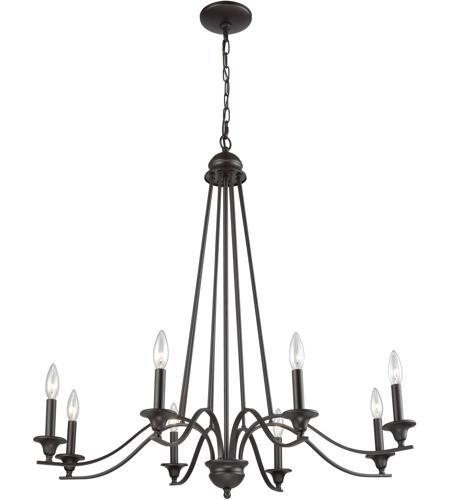 Thomas Lighting Cn110821 Farmington 8 Light 36 Inch Oil Rubbed Bronze Chandelier Ceiling
