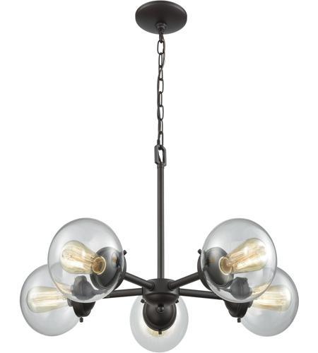 Thomas Lighting Cn129521 Beckett 5 Light 26 Inch Oil Rubbed Bronze Chandelier Ceiling