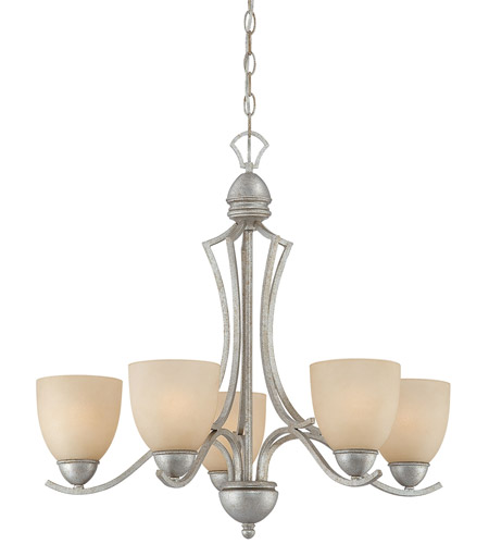 Moonlight Silver Metal Triton Chandeliers