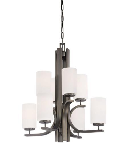 Thomas Lighting Tk0008715 Pendenza 8 Light 27 Inch Oiled Bronze Chandelier Ceiling
