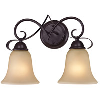 Brighton 2 Light 15 inch Oil Rubbed Bronze Vanity Wall Light