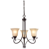 Brighton 3 Light 20 inch Oil Rubbed Bronze Chandelier Ceiling Light