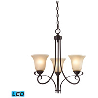 Brighton LED 20 inch Oil Rubbed Bronze Chandelier Ceiling Light
