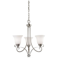 Brighton 3 Light 20 inch Brushed Nickel Chandelier Ceiling Light