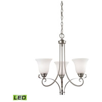 Brighton LED 20 inch Brushed Nickel Chandelier Ceiling Light