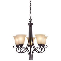 Brighton 5 Light 22 inch Oil Rubbed Bronze Chandelier Ceiling Light