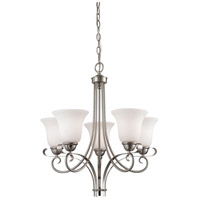 Brighton 5 Light 22 inch Brushed Nickel Chandelier Ceiling Light