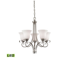 Brighton LED 22 inch Brushed Nickel Chandelier Ceiling Light
