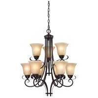 Brighton 9 Light 25 inch Oil Rubbed Bronze Chandelier Ceiling Light