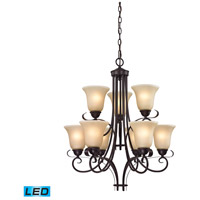 Brighton LED 25 inch Oil Rubbed Bronze Chandelier Ceiling Light