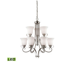 Brighton LED 25 inch Brushed Nickel Chandelier Ceiling Light
