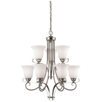 Brighton 9 Light 25 inch Brushed Nickel Chandelier Ceiling Light