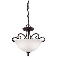 Thomas Lighting 1052CS/10 Brighton 2 Light Oil Rubbed Bronze Semi Flush Mount Ceiling Light Convertible