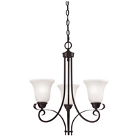 Thomas Lighting 1053CH/10 Brighton 3 Light Oil Rubbed Bronze Chandelier Ceiling Light